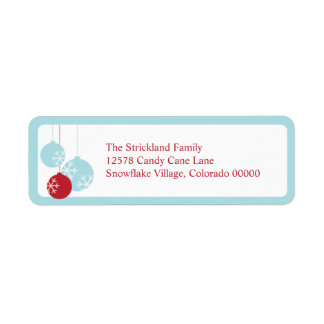 Retro Modern Holiday Ornaments Christmas Labels