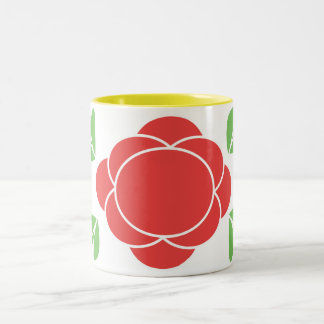 retro modern in red, green Two-Tone coffee mug