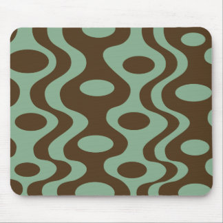 Retro Modern mousepad - Green and Brown