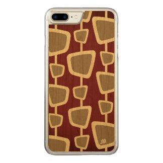Retro Modern Pattern Monogram iPhone 7 Plus Case