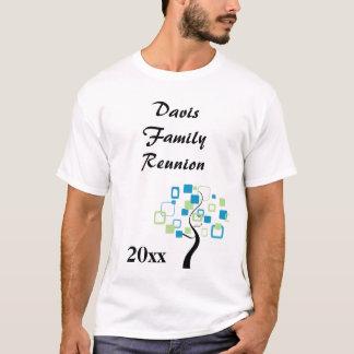 Retro Modern Tree of Life Custom Family Reunion T-Shirt