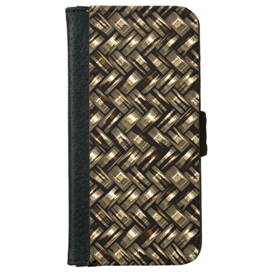 Retro Modern Trendy Cool Abstract Weave Pattern iPhone 6 Wallet Case