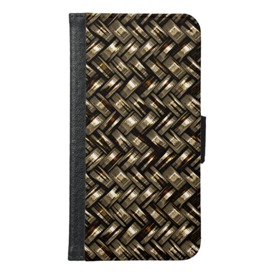 Retro Modern Trendy Cool Abstract Weave Pattern Samsung Galaxy S6 Wallet Case