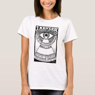retro modern vintage advertisement: Keyzer Optical T-Shirt