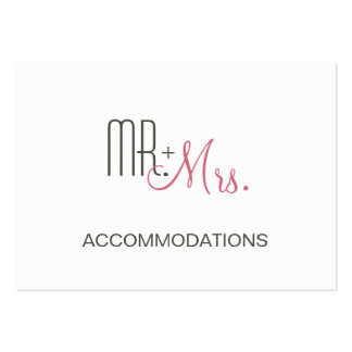 Retro Modern Wedding Accommodations Pack Of Chubby Business Cards