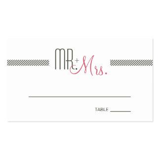 Retro Modern Wedding Escort Place Card Business Card Template
