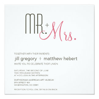 Retro Modern Wedding Personalized Announcements