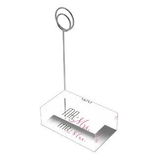 Retro Modern Wedding Table Card Holder