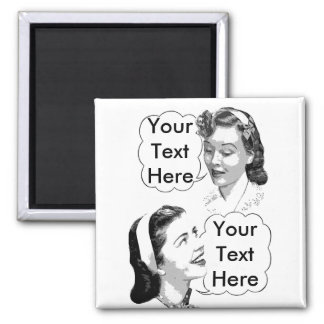 Retro Mom and Daughter Magnet