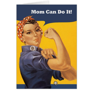 Retro Mom Can Do It Mother's Day Card