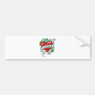 Retro Mom Tattoo Bumper Sticker