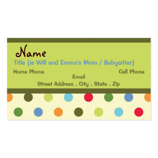 Retro Mommy Business Card