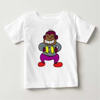 Retro Monkey with Cymbals Toy Baby T-Shirt