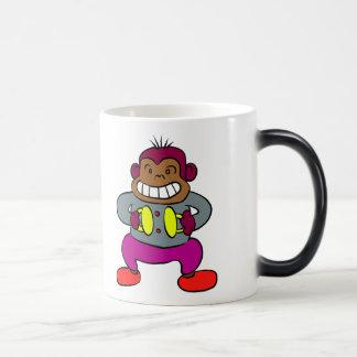 Retro Monkey with Cymbals Toy Magic Mug