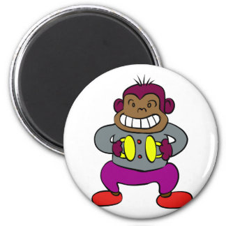 Retro Monkey with Cymbals Toy Magnet