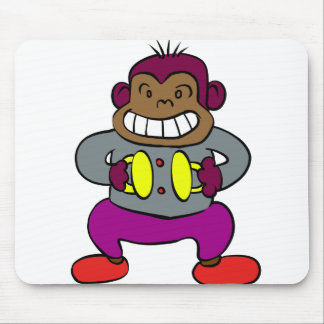 Retro Monkey with Cymbals Toy Mouse Pad