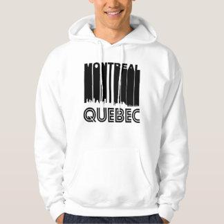 Retro Montreal Quebec Canada Skyline Hoodie
