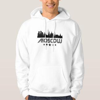 Retro Moscow Skyline Hoodie