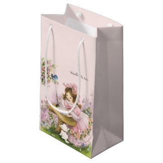 Retro Mother's Day/Birthday/Love Pink Small Gift Bag