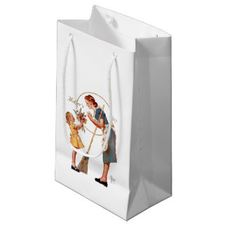 Retro Mother's Day Small Gift Bag