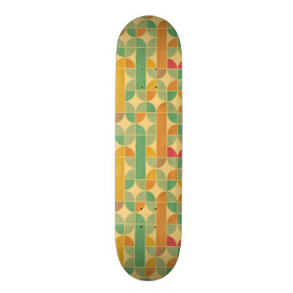 Rétro motif abstrait mini skateboard 18,4 cm
