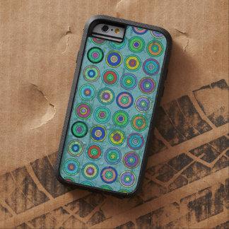 Rétro motif bleu sale de cercle coque iPhone 6 tough xtreme