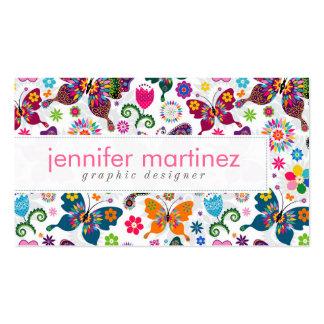 Rétro motif coloré de papillons et de fleurs