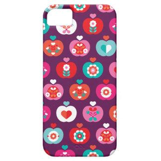 Rétro motif coloré d'illustration de fruit de pomm étuis iPhone 5