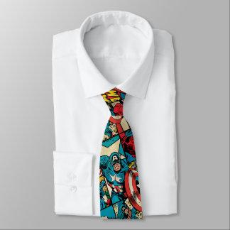 Rétro motif de bande dessinée de capitaine cravate
