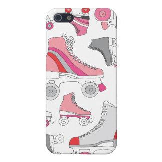Rétro motif de patin de lames vintages de rouleau iPhone 5 case
