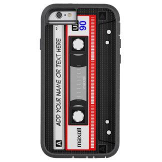 Rétro motif drôle d'enregistreur à cassettes de coque iPhone 6 tough xtreme