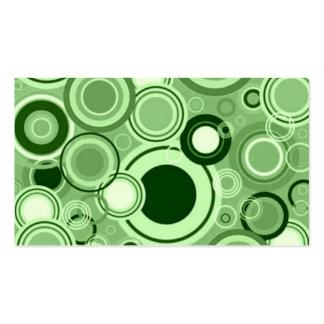 Rétro motif génial vert de cercles modèles de cartes de visite