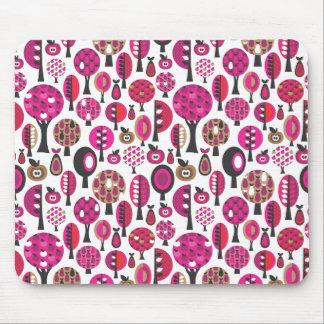 Rétro motif mignon avec les pommes et le mousepad  tapis de souris