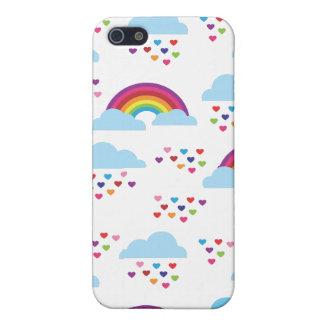 Rétro motif mignon d'enfants d'amour de coeur d'ar iPhone 5 case