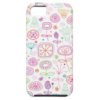 Rétro motif mignon d'été de fleur de jardin coque tough iPhone 5