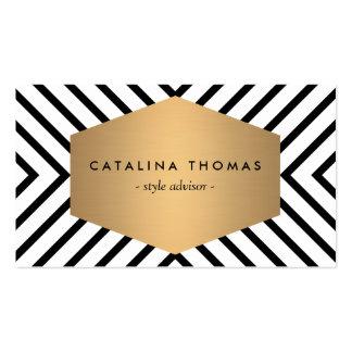 Rétro motif noir et blanc de mod avec l'emblème cartes de visite professionnelles