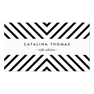 Rétro motif noir et blanc de mod modèles de cartes de visite