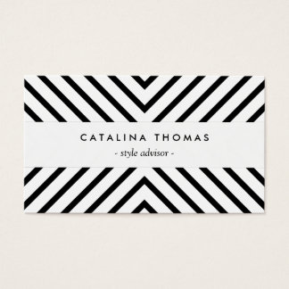 Rétro motif noir et blanc de mod cartes de visite
