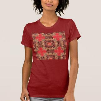 Rétro motif sans couture d'arc-en-ciel coloré t shirts