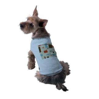 Rétro motif vintage d'art déco tee-shirt pour animal domestique