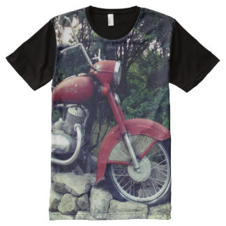 Retro Motorbike Man All Over Printed Shirt