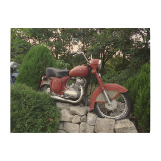 Retro motorbike Wood Wall Art