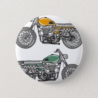 Retro Motorcycle Vector Sketch 2 Inch Round Button