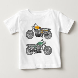 Retro Motorcycle Vector Sketch Baby T-Shirt