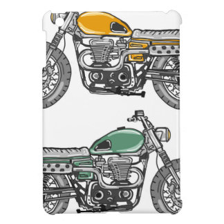 Retro Motorcycle Vector Sketch iPad Mini Case
