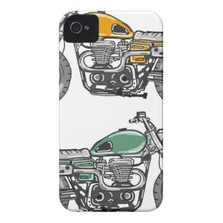 Retro Motorcycle Vector Sketch iPhone 4 Case