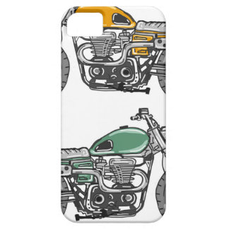 Retro Motorcycle Vector Sketch iPhone 5 Case