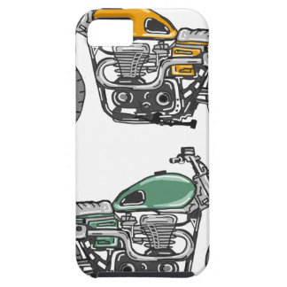 Retro Motorcycle Vector Sketch iPhone 5 Cover