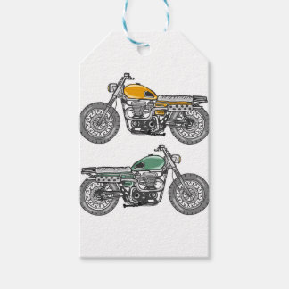 Retro Motorcycle Vector Sketch Pack Of Gift Tags