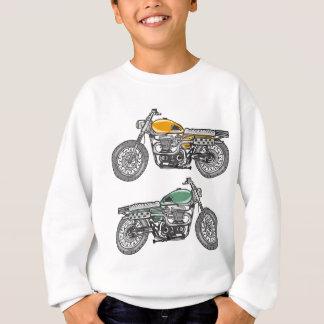 Retro Motorcycle Vector Sketch Sweatshirt